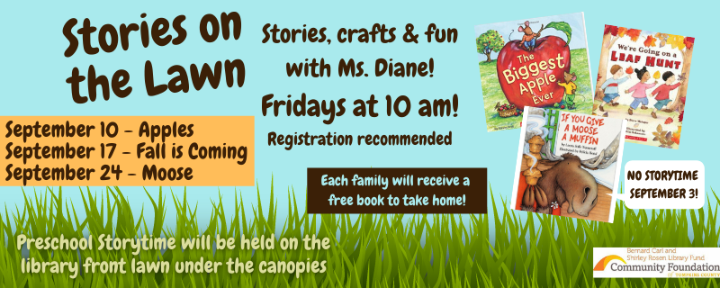 September Stories AT THE PARK – Fridays at 10am